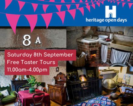 Advert for the Heritage Open Day on Saturday 8th September at the D.H. Lawrence Birthplace Museum