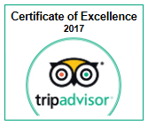 Trip Advisor - Certificate of Excellence 2017