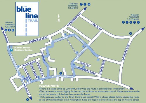Blue Line Trail Map