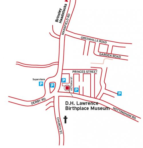 Map of Eastwood near to the Museum