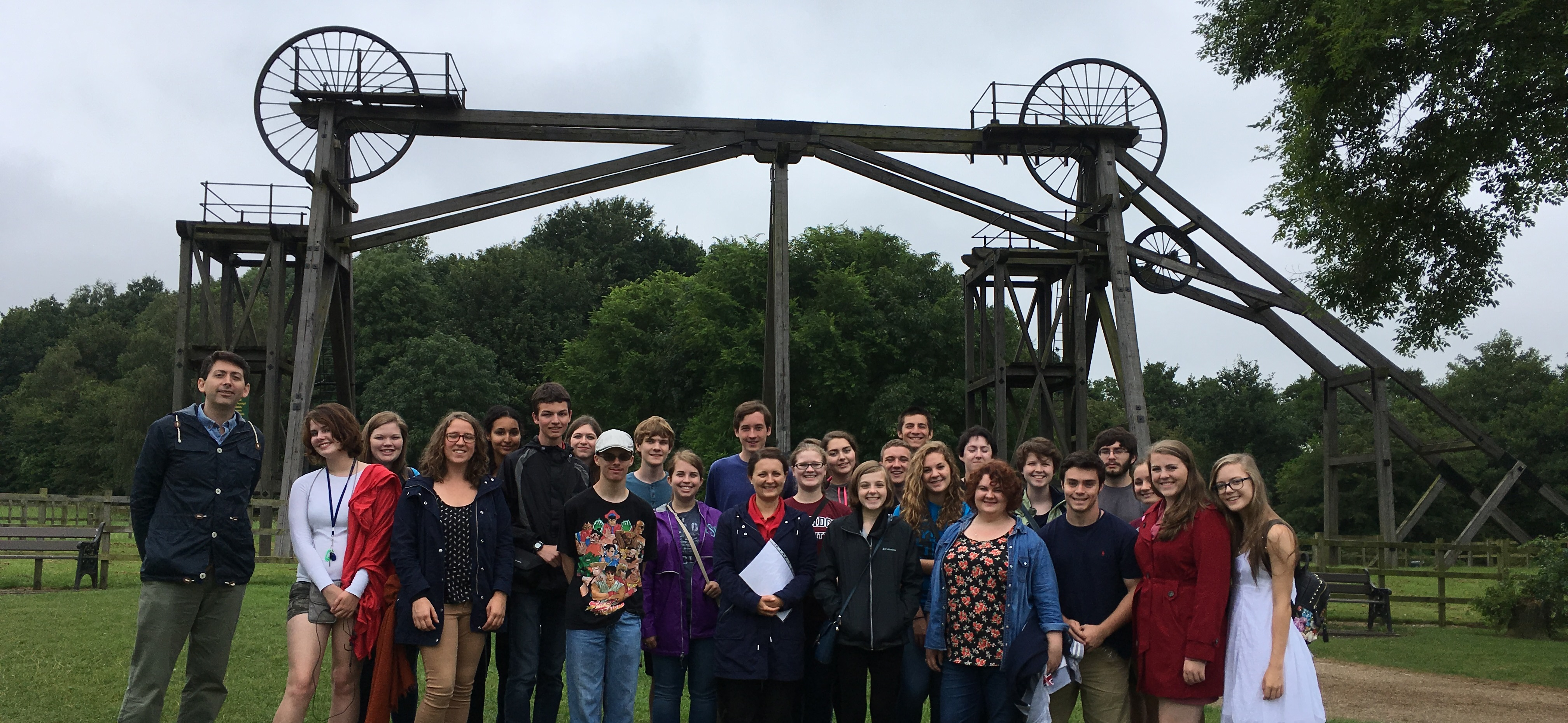 School trip to Brinsley Headstocks