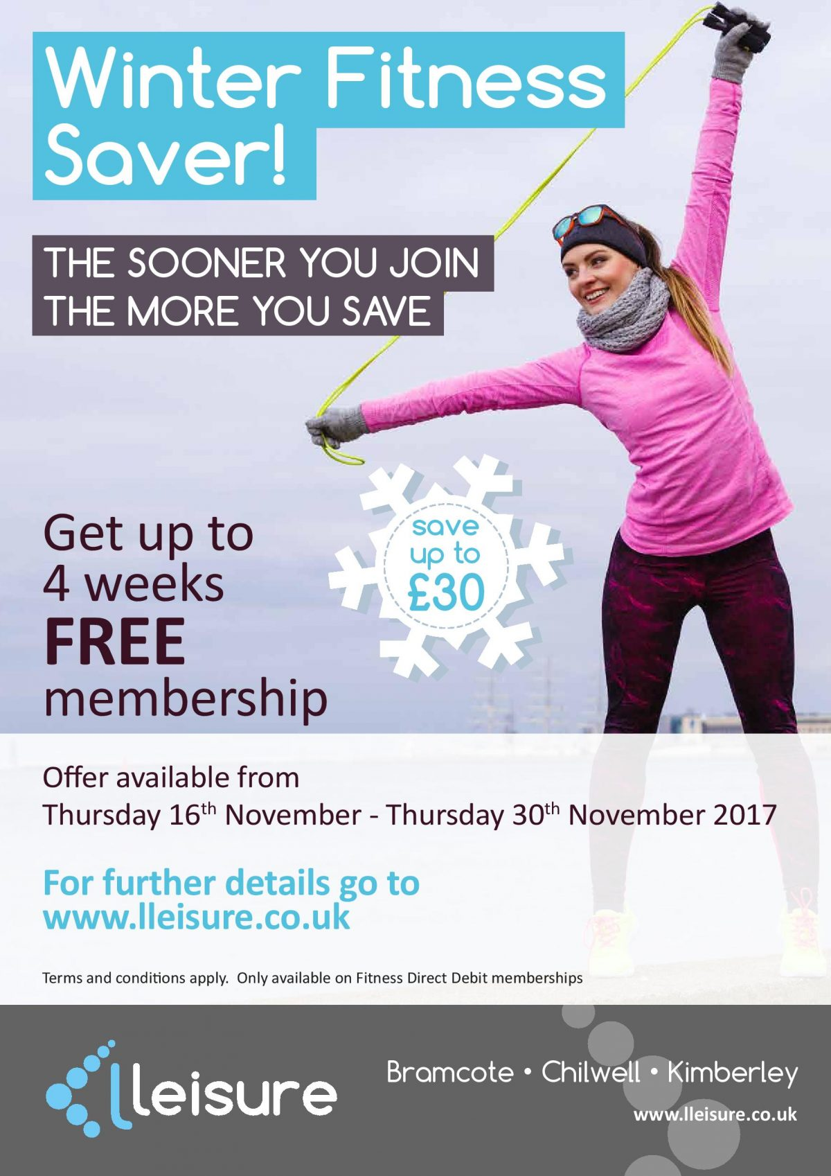 Winter Fitness Saver: The Sooner You Join the More You Save!