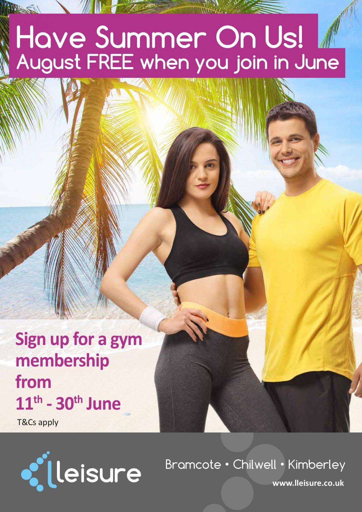 June gym membership offer!