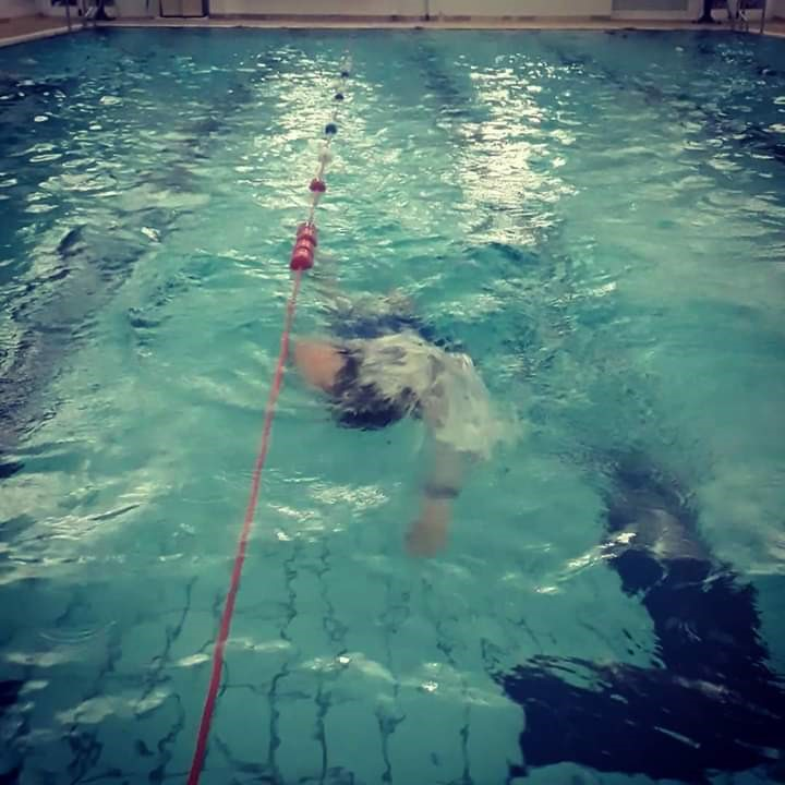 Swimming keeps me calm