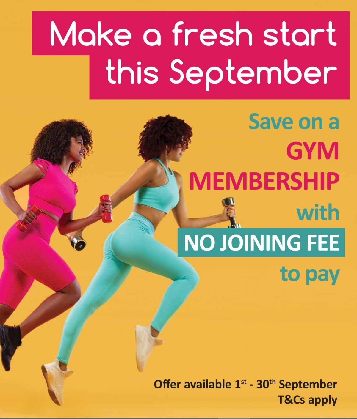 September gym membership offer