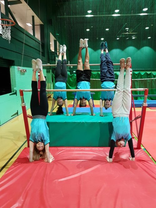 gymnastics and trampoline event